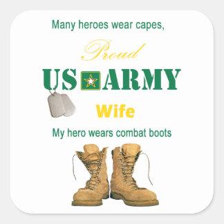 My Hero Wears Combat Boots Stickers