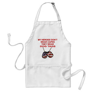 My Heroes Don't Wear Capes They Wear Dog Tags Apron