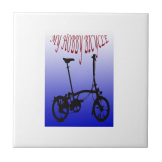 My Hobby Bicycle Small Square Tile