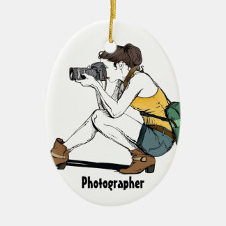 My Hobby is Photography Christmas Ornament