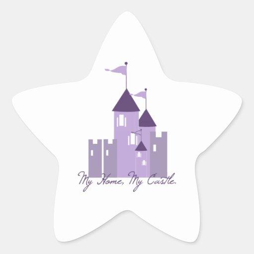 My Home My Castle Star Sticker