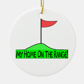 My Home On The Range Golf Christmas Ornament