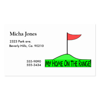 My Home On The Range Golf Pack Of Standard Business Cards