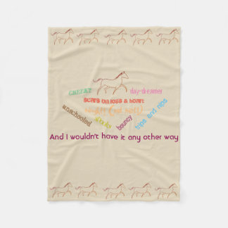 My horse - cheeky day dreamer fleece blanket