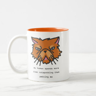 My Human Spends More Time Catspotting Two-Tone Coffee Mug