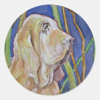 """My Huntin Dawg"" Classic Round Sticker"