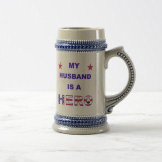 My Husband Is A Hero Beer Steins