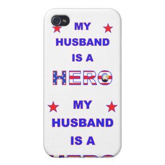 My Husband Is A Hero iPhone 4 Cases