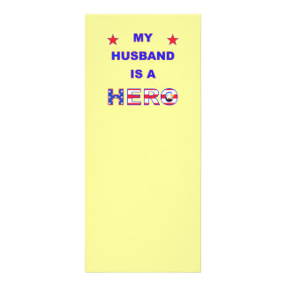 My Husband Is A Hero Custom Rack Card