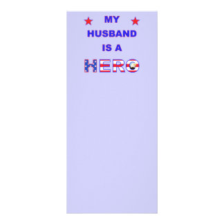 My Husband Is A Hero Rack Cards