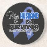 My Husband  is a Survivor - Colon Cancer Coasters