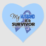 My Husband  is a Survivor - Colon Cancer Stickers