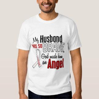 My Husband Is An Angel Lung Cancer Tee Shirts