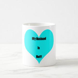 My Husband Is Hot Basic White Mug