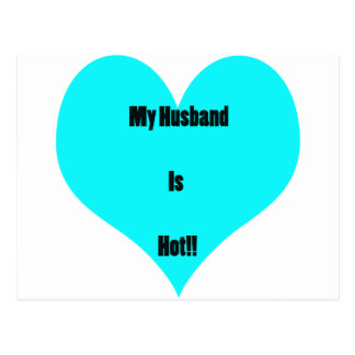 My Husband Is Hot Postcard