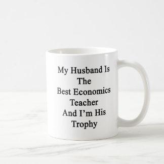 My Husband Is The Best Economics Teacher And I'm H Basic White Mug