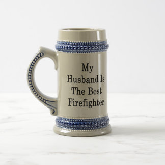 My Husband Is The Best Firefighter 18 Oz Beer Stein