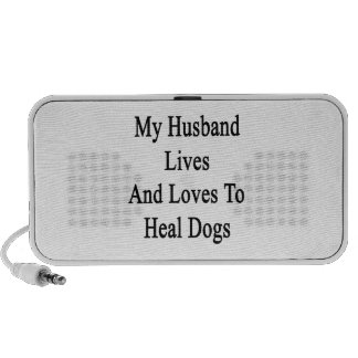 My Husband Lives And Loves To Heal Dogs iPhone Speaker