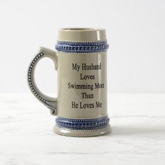 My Husband Loves Swimming More Than He Loves Me Coffee Mug