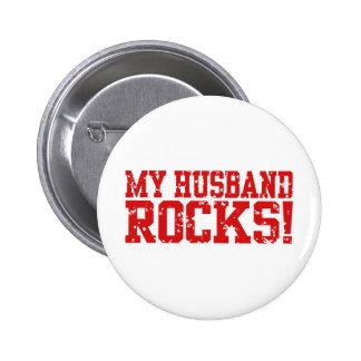 My Husband Rocks 6 Cm Round Badge