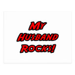 My Husband Rocks! Postcard