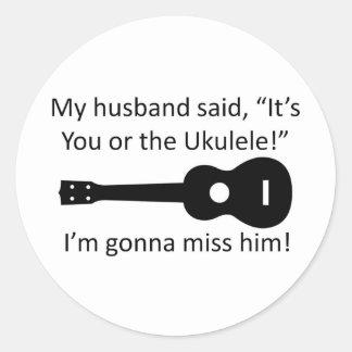 My Husband Said... Round Stickers