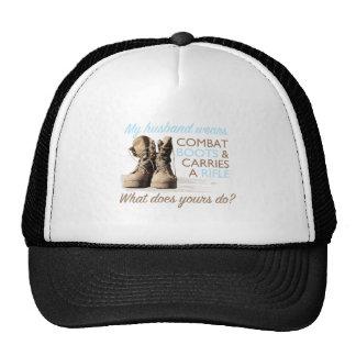 My Husband Wears Combat Boots Mesh Hat