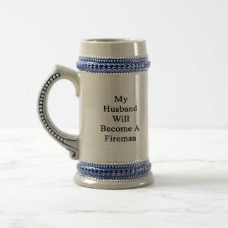 My Husband Will Become A Fireman Mugs