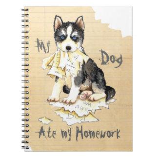 My Husky Ate my Homework Spiral Notebook