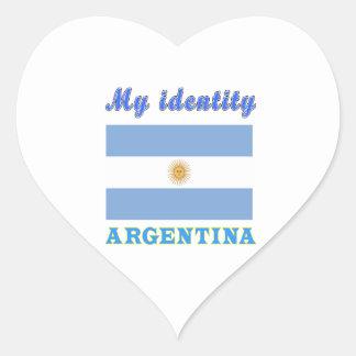 My Identity Argentina Heart Sticker