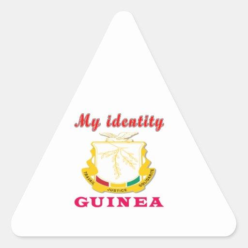 My Identity Guinea Triangle Stickers