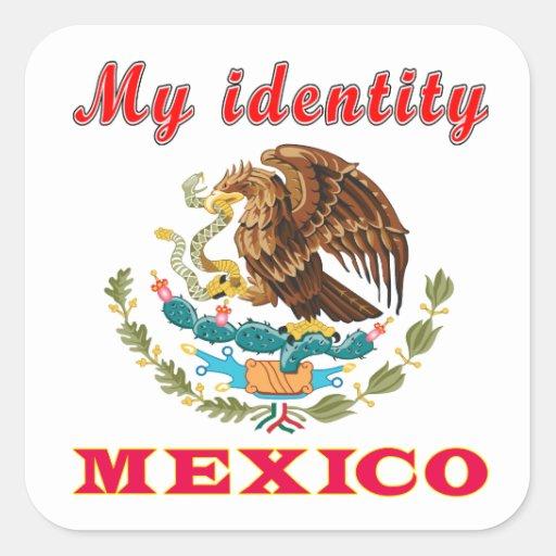 My Identity Mexico Square Stickers
