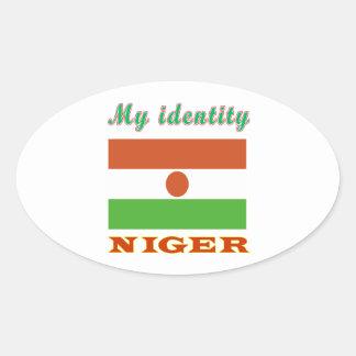 My Identity Niger Oval Sticker