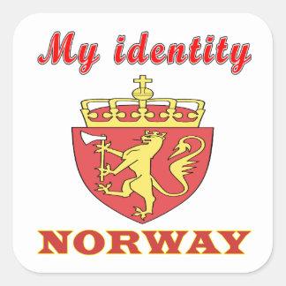 My Identity Norway Square Sticker