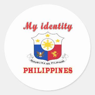 My Identity Philippines Round Sticker