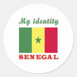 My Identity Senegal Round Sticker