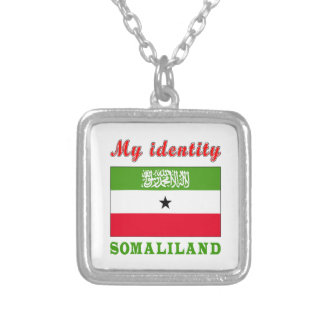 My Identity Somaliland Square Pendant Necklace