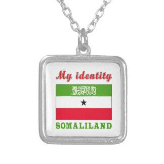 My Identity Somaliland Square Pendant Necklace