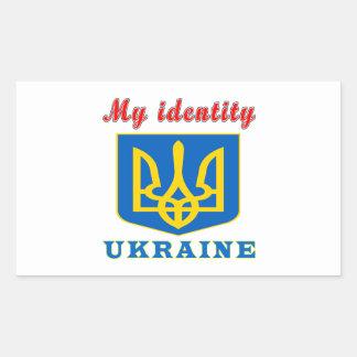 My Identity Ukraine Rectangular Sticker