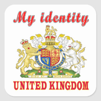 My Identity United kingdom Square Sticker