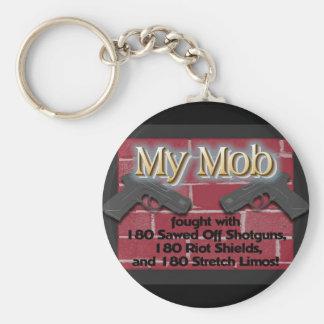 My iMob! Basic Round Button Key Ring