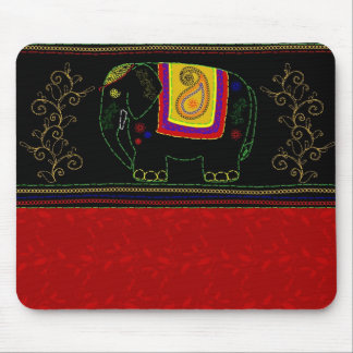 My Indian Elephant - Indian Red Mouse Mats
