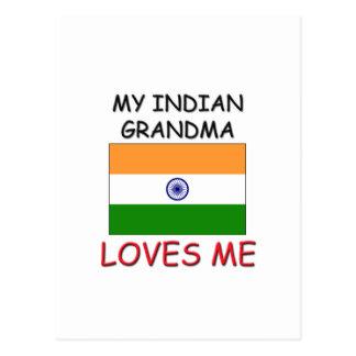 My Indian Grandma Loves Me Postcard