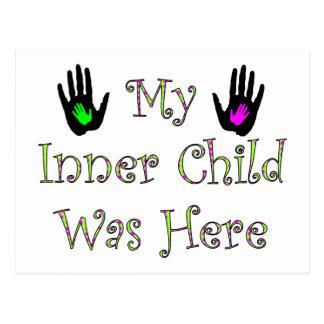 My Inner Child Was Here Postcard
