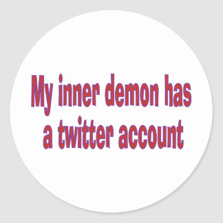 My inner demon classic round sticker