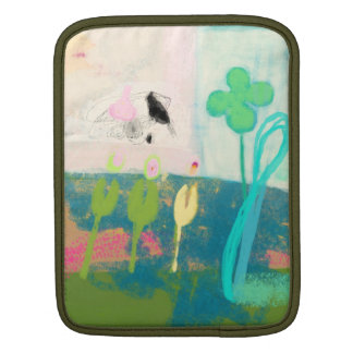 My inner garden with flowers,birds and butterflies iPad sleeve