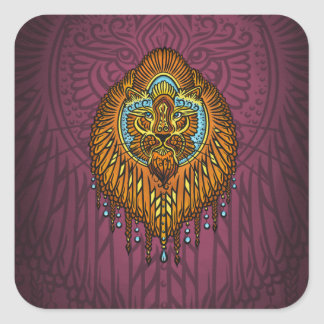 My inner voice, Tarot, strength, innerpower Square Sticker