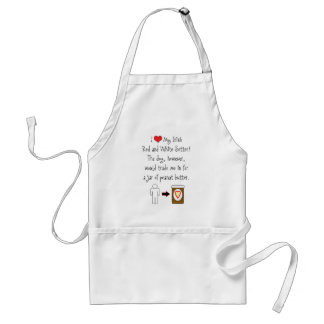 My Irish Red and White Setter Loves Peanut Butter Apron