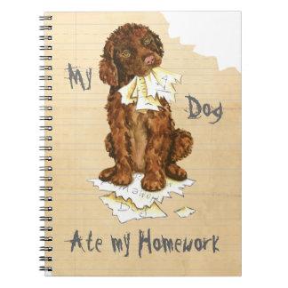 My Irish Water Spaniel Ate My Homework Notebook