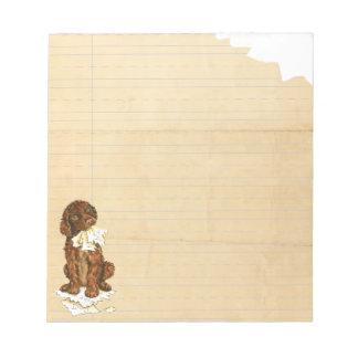 My Irish Water Spaniel Ate My Homework Notepads